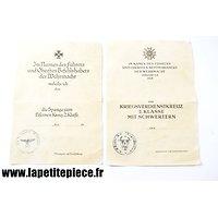 Documents remise de médailles 9e Panzerdivision SS Hohenstaufen