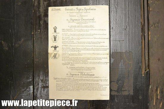Instruction sur les signaux - 2e Zouaves - France WW2