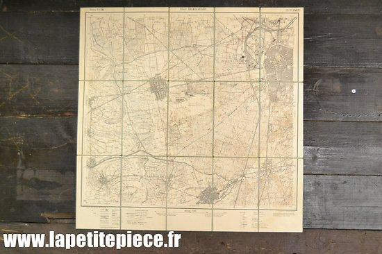 Carte Allemande secteur de Darmstadt Hesse - Première Guerre Mondiale