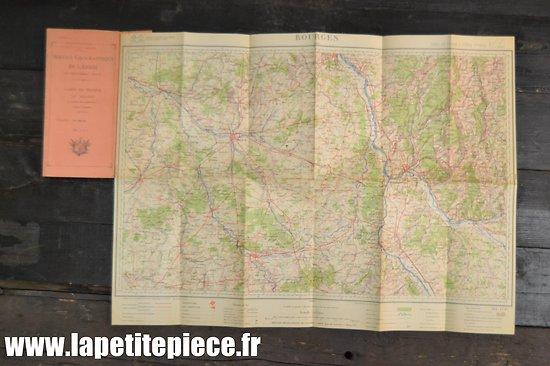 Carte Française 1930 - Secteur Bourges, camp d'Avord (Base Aérienne)