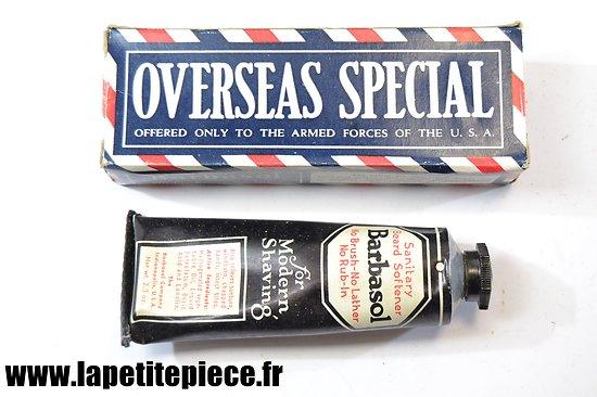Crème à raser Barbasol Deuxième Guerre Mondiale