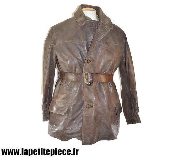 Veston de cuir civil, début - milieu 20e Siècle. Idéal reconstitution