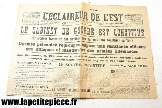 L'éclaireur de l'Est - 14 septembre 1939