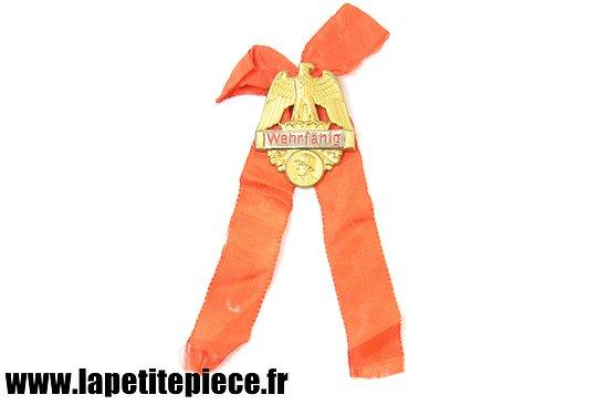 Badge de réserviste Allemand - Wehrfähig