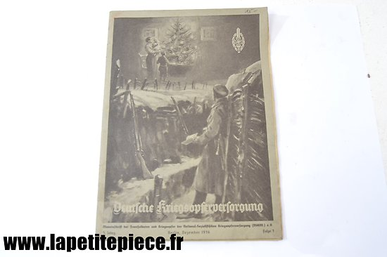 Livre patriotique Allemand 1936 - Deutsche Kriegsopferversorgung