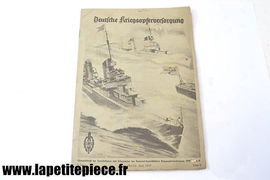 Livre patriotique Allemand 1937 - Deutsche Kriegsopferversorgung