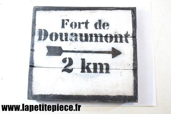 Repro panneau FORT DE DOUAUMONT