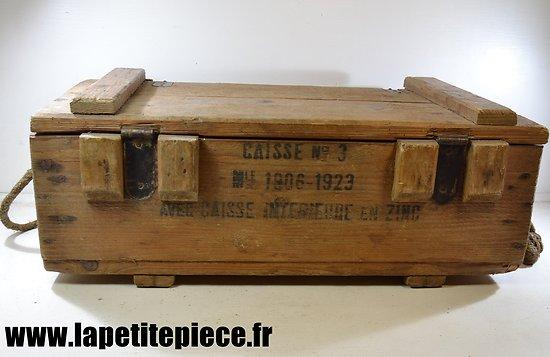 Caisse à munitions Française Mle 1906-1923 pour 7,5 MAS