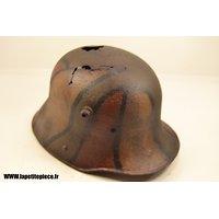 Coque de Casque Allemand première Guerre Mondiale camouflé 3 tons. WW1