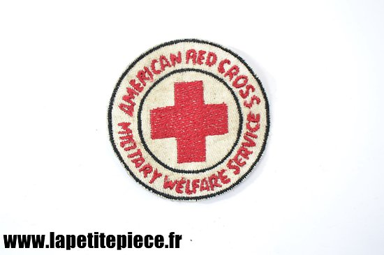 Repro patch American Red Cross Military Welfare Service - US WW2
