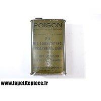 Bidon d'huile américain de 1944 - OIL LUBRICATING PRESERVATIVE LIGHT