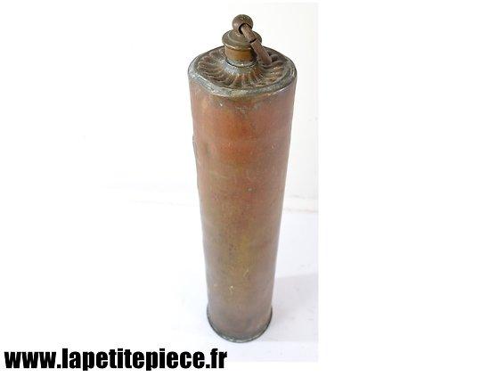 Chaufferette artisanale douille d'obus - Première Guerre Mondiale
