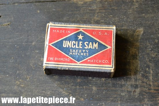 Repro boite d'allumettes US WW2 - Uncle Sam Safety Matches