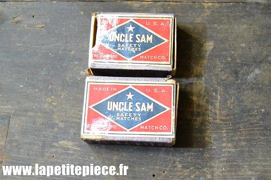 Repro deux boites d'allumettes US WW2 - Uncle Sam Safety Matches