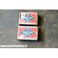 Repro deux boites d'allumettes US WW2 - Uncle Sam Safety Matches