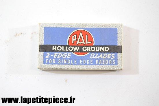 Boite de lames de rasoir PAL Hollow ground années 1930 - 1950
