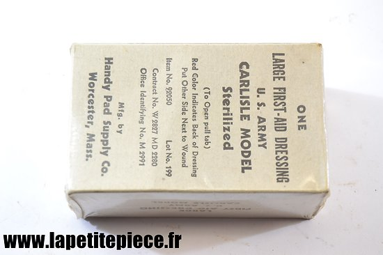 Pansement américain Large First-aid dressing Handy Pad Supply Co.
