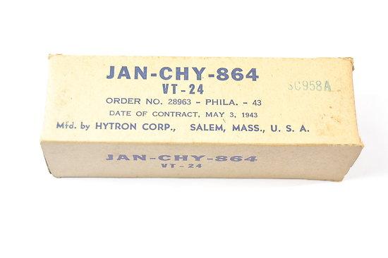 Lampe radio US VT-24 - 1943 -JAN-CHY-864 Hytron Corp.