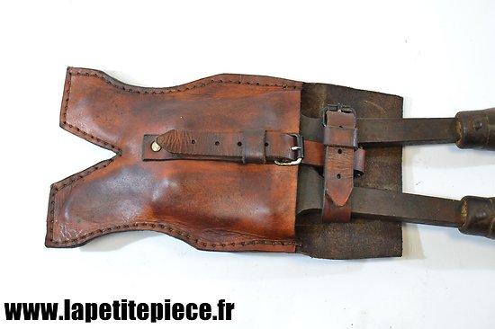 Repro étui cuir pour cisaille portative Peugeot 45cm. France WW1 / WW2