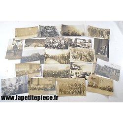 20 photos Prisonniers de Guerre Français en Allemagne - Première Guerre Mondiale