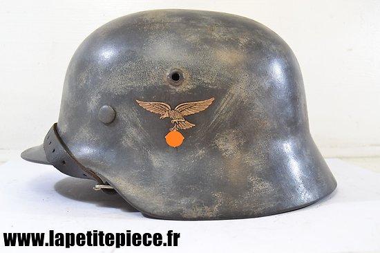 Casque Allemand reconditionné M 1935 Luftwaffe camouflé