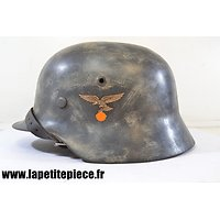 Casque Allemand reconditionné M 1935 Luftwaffe camouflé