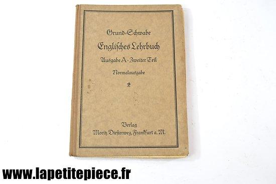 Livre Allemand de 1926 - Englisches Lehrbuch (Manuel d'Anglais)