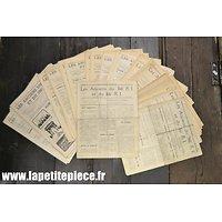 """Lot bulletins """"Les anciens du 366 RI et 166 RI"""" années 1930"""