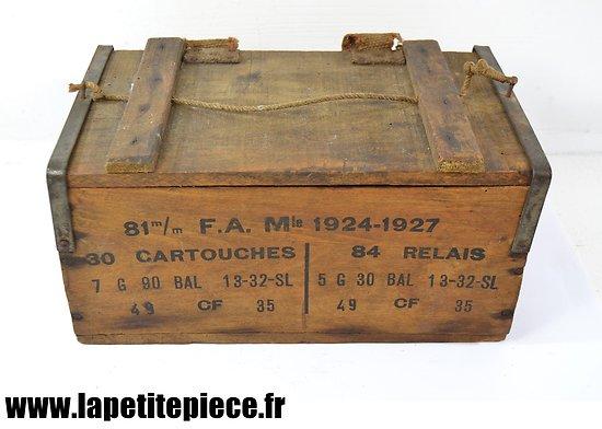 Caisse de relais / cartouches pour obus de Mortier de 81mm