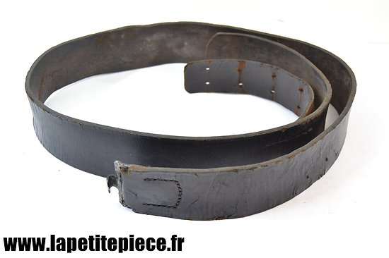 Ceinturon Allemand cuir noir - état moyen