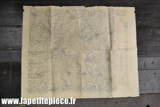 Carte de l'Allemagne, édition de Guerre US 1944