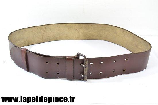 Ceinturon modèle 1914 - achat privé - cuir laqué marron