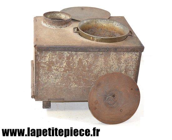 Poêle à bois transportable - chauffe gamelle et chauffage. France WWI