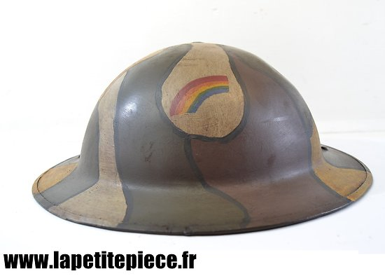 """Repro casque Américain M-1917 camouflé, 42th """"Rainbow"""" Division"""