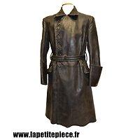 Manteau de cuir officier Luftwaffe WW2