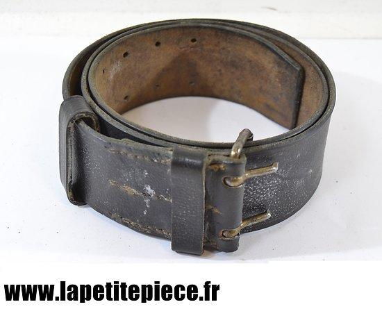 Ceinturon Français modèle 1903-14 cuir noir, début de Guerre