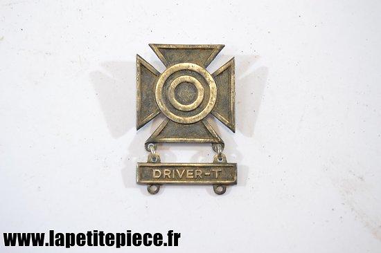 Badge US DRIVER-T (conducteur d'engins chenillés) avec prix de tir Première Classe
