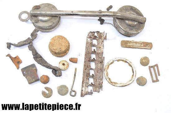 Lot pièces de terrain, Français - Allemand 1940 Ardennes