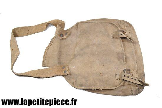 Besace / sac de selle double de cavalerie, modifié en musette. Première Guerre Mondiale