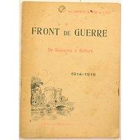 Livret Front de Guerre de Soissons à Belfort 1914 - 1918 par la Compagnie des Chemins de Fer de l'Est