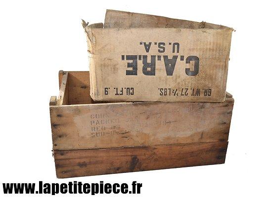 Caisse et carton US Deuxième Guerre Mondiale