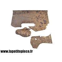 Epave plaque de protection tranchée Allemande Première Guerre Mondiale