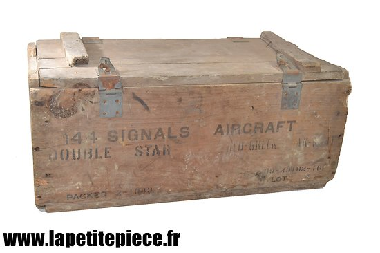 Caisse US 1943 - 144 SIGNALS DOUBLE STAR AIRCRAFT