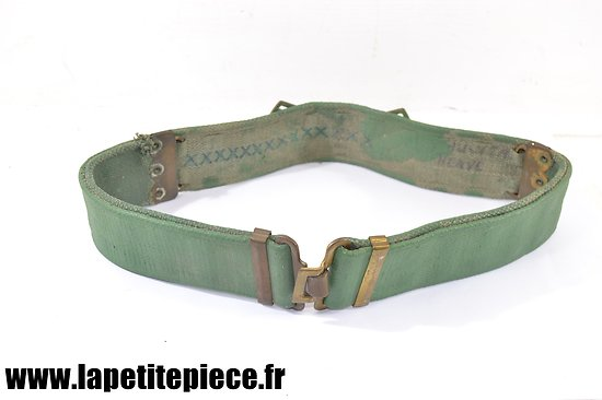 Ceinturon Anglais WW2 - camouflé / peint en vert