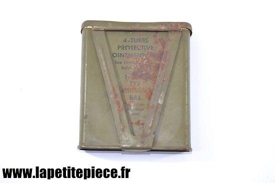 Boite vide pour 4 tubes protective ointment M5. US WW2. Onguent