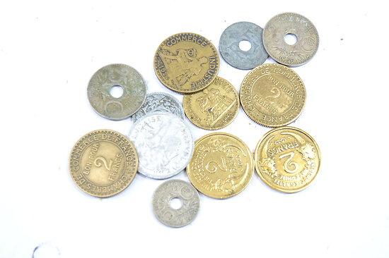 Lot de monnaies Françaises époque Deuxième Guerre Mondiale
