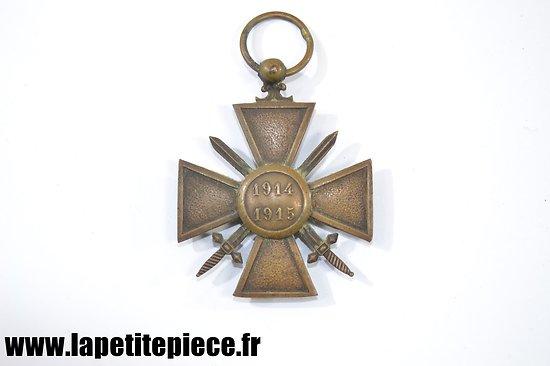 Croix de Guerre 1914 - 1915 sans ruban