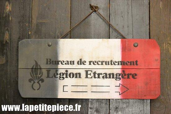 Repro panneau Légion Etrangère, bureau de recrutement