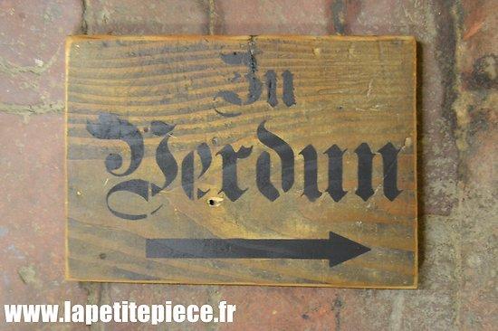 """Repro panneau """"ZU VERDUN"""""""