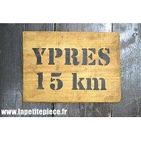 Repro panneau YPRES 15km